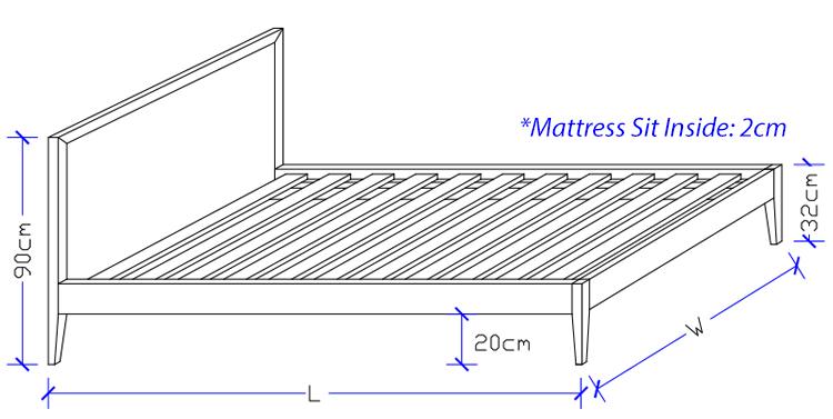 Nirvana Timber Bed Frame - Custom Made Beds