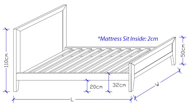 Norway Timber Bed Frame - Custom Made Design