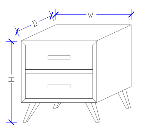 Hand Made Bedside Table - Custom Design