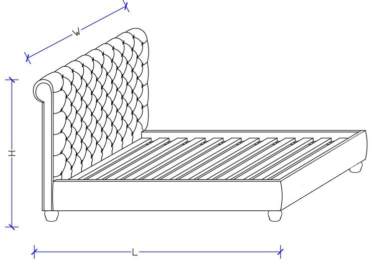 Upholstered Bed Frame - Custom Design