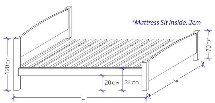Custom Made Timber Bed Frame