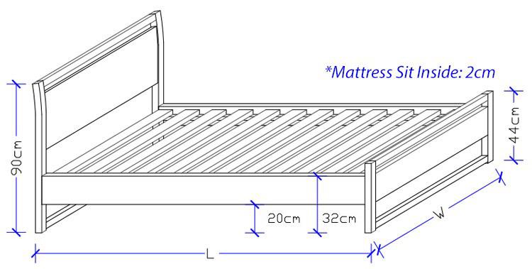 Timber Bed Frame - Custom made Bed