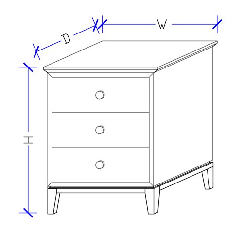 Norway Timber Bedside Table - Custom Made