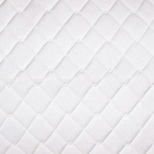 Standard White Quilted