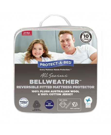 Bell Weather Reversible Australian Wool Fitted Mattress Protector