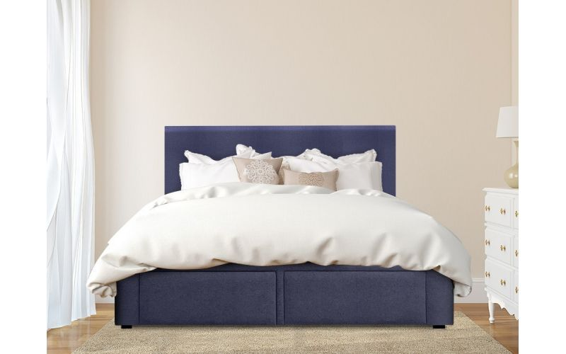 New york custom storage bed frame new fabric collection for Custom made bed frame