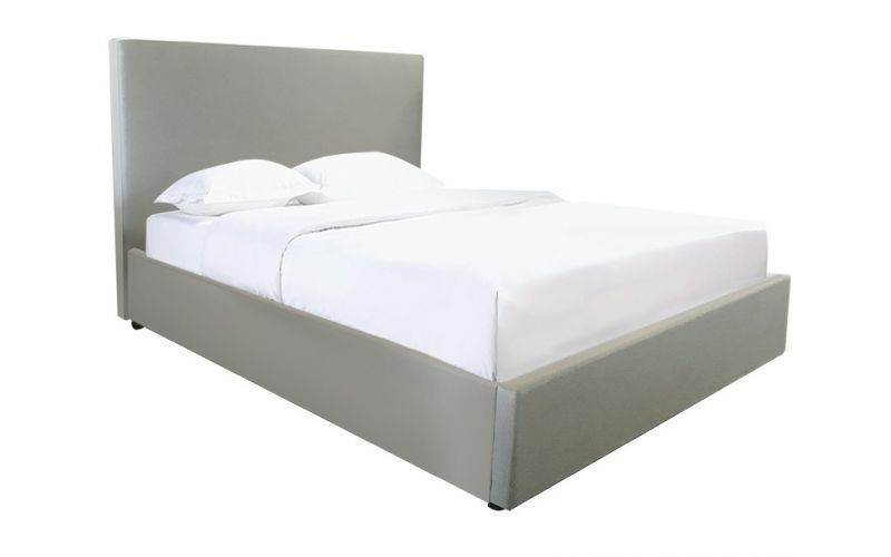 Nevada Fabric Bed Frame with Straight Slats & Drawers