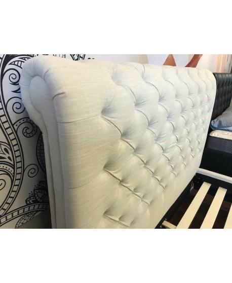Peppa II Linen Upholstered Slat Bed Frame
