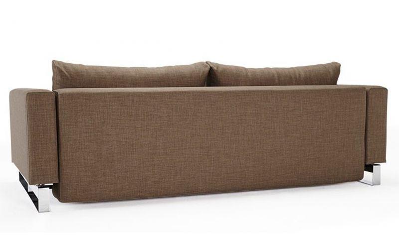 Cassius sleek double sofa bed with chrome legs for Sleek sofa bed