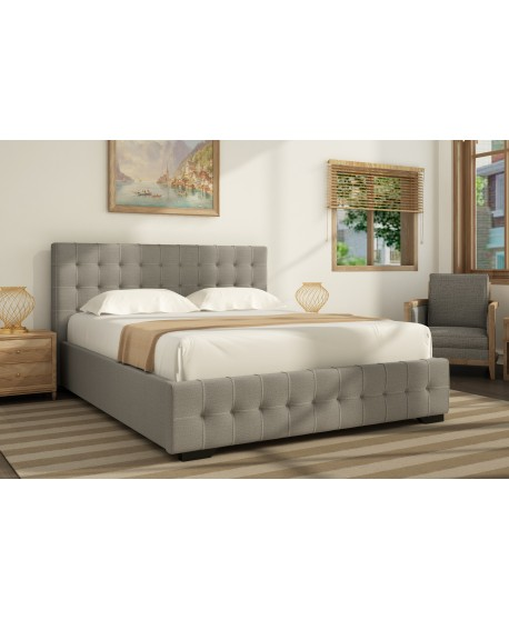 Charlotte Gas Lift Fabric Bed Frame