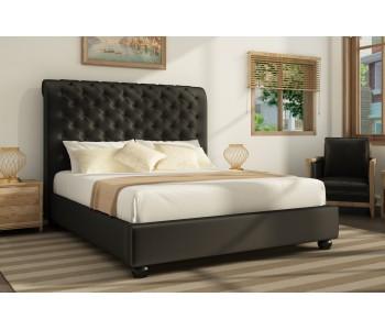 Peppa II Velvet Upholstered Slat Bed Frame