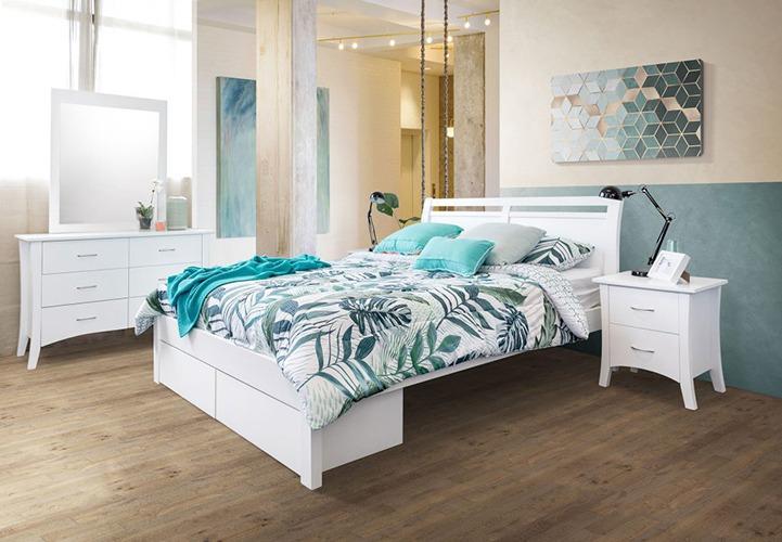 Ella 2 Drawer Timber Bed Frame Suite Option