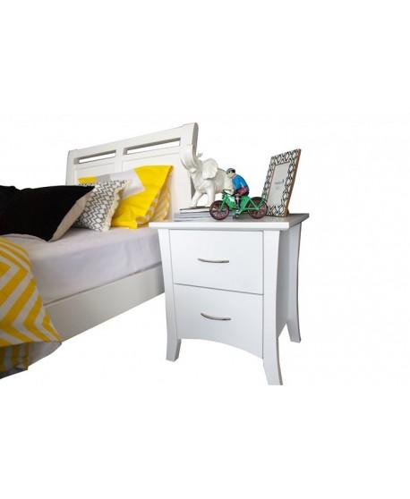 Ella 2 Drawer Timber Bed Frame - Suite Option