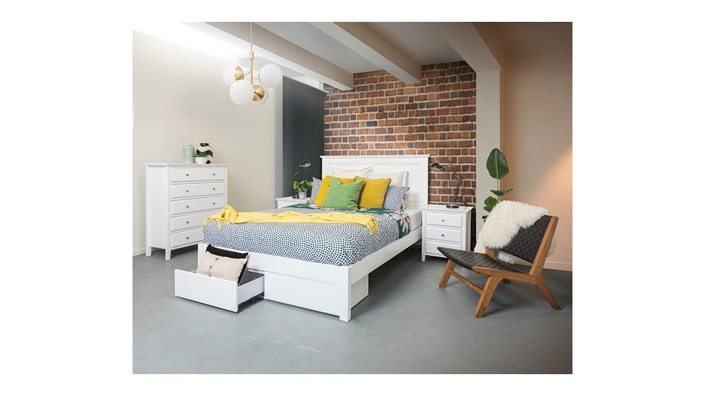 Coco 2 Drawer Timber Bed Frame - Suite Option