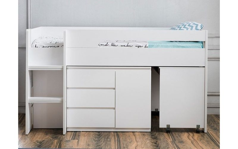 outlet store 434f1 71474 Jupiter Plus Midi Sleeper Bed, Desk and Storage
