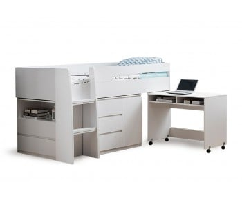 Jupiter Plus Midi Sleeper Bed, Desk and Storage