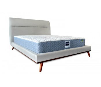 Seed Upholstered Sleek Wooden Timber Bed Frame