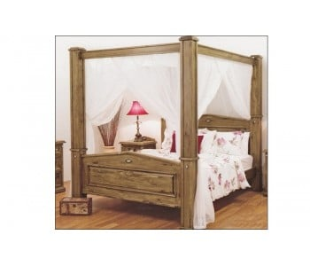 Suffolk 4-Poster Timber Bed Frame - Suite Options