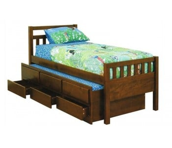 Kruz Kids Timber Storage Bed with Trundle