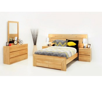 Renmark Timber Bed Frame  - Suite Option