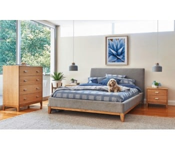 Toronto Timber Upholstery Bed Frame  - Suite Option