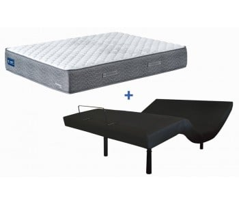 Enliven Electric Adjustable Base With Domino Manchester Mattress - AH Beard