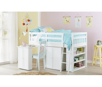 Aztec Kids Cabin Loft Bed in Arctic
