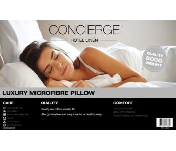 Concierge Hotel Linen Luxury Microfibre 800gsm Pillow