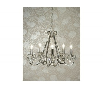 Luxuria 5 Light No Shade Chandelier