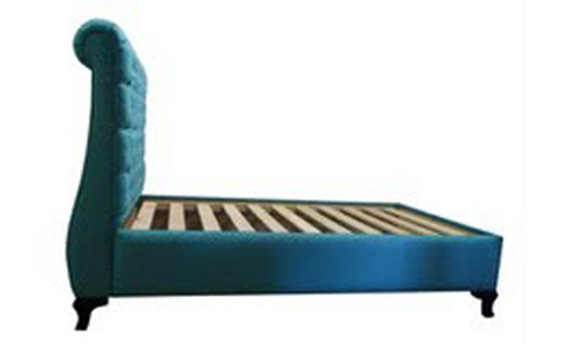 Aquarius upholstered bed frame custom made for Custom made bed frame