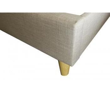 Comfort Plus Mattress + Rio Upholstered Bed Frame with Wooden Legs