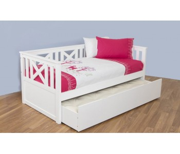 Madeleine White Timber Day Bed