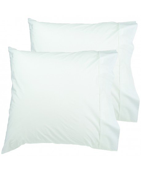 Easyrest European Twin Pack Premium 300 Thread Cotton Pillowcase