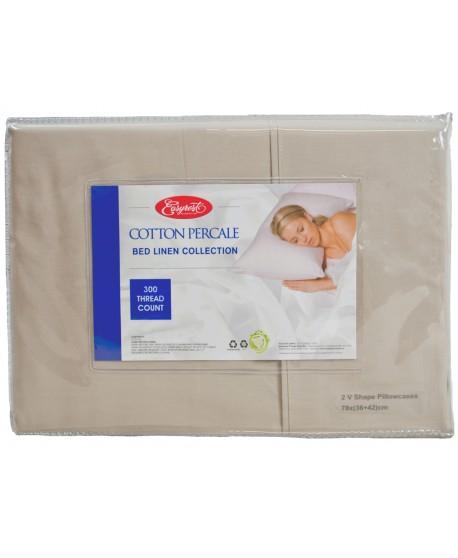 Pillowcase V-Shape twin pack Premium 300 Thread Count