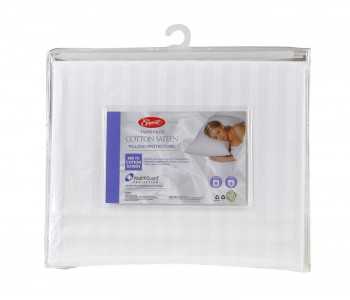 Pillow Protector TWIN Pack Cotton Sateen
