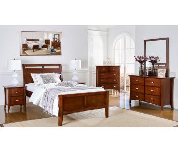 Clovelly Walnut Bedframe w/ Suite