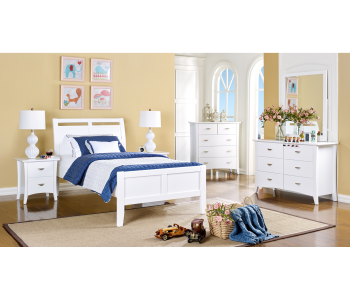 Clovelly White Bedframe w/ Suite