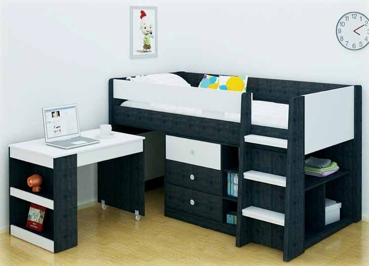 diy white projects steps playhouse with loft bed ana storage