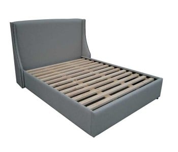 Straight Wing Custom Upholstered Bed Frame With Choice Of Standard Base