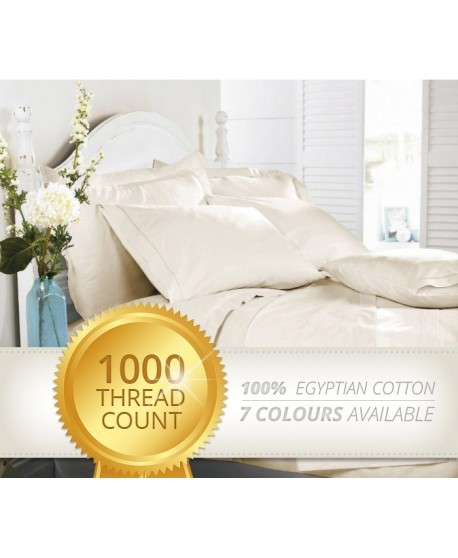 1000 Thread Count 100% Egyptian Cotton Sheet Set