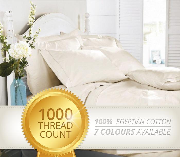 1000 Thread Count 100 Egyptian Cotton Sheet Set