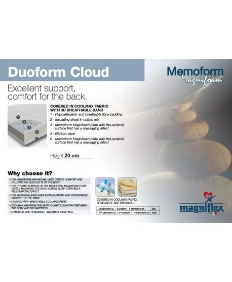 Magniflex Duoform Cloud 20cm Cooling Memory Foam Mattress