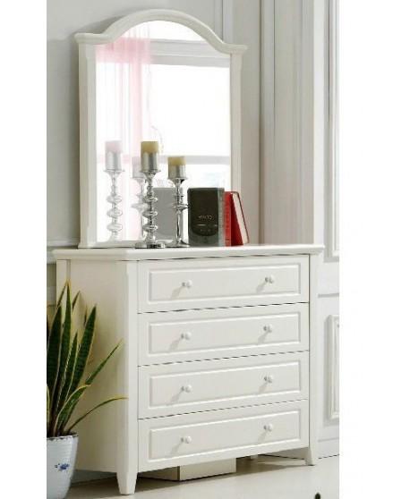 Iris White Dresser and Mirror