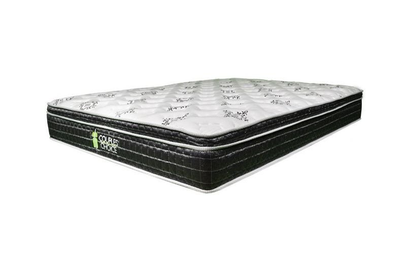 couples choice pocket spring pillow top mattress. Black Bedroom Furniture Sets. Home Design Ideas