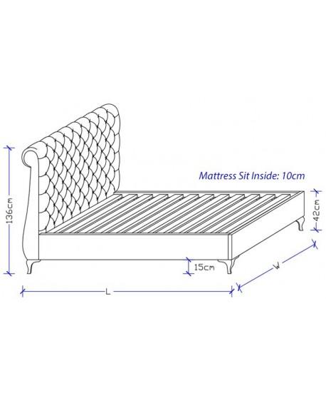Aquarius Custom Upholstered Bed Frame