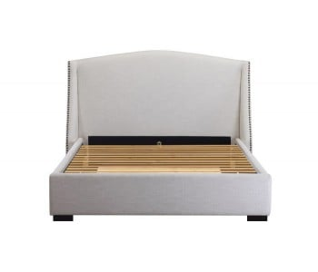 Balmoral Custom Studded Wing Bed Frame With Choice Standard Base