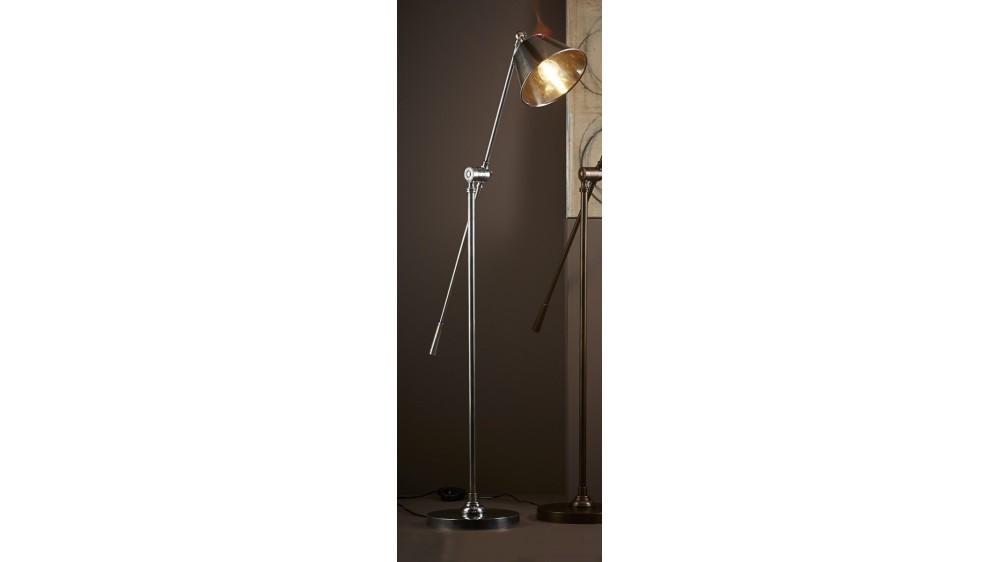 Winslow Floor Lamp - Antique Brass/Silver