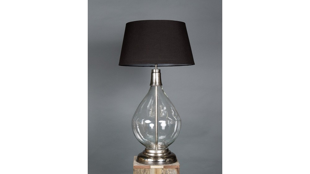 Emac & Lawton Nero Glass Table Lamp