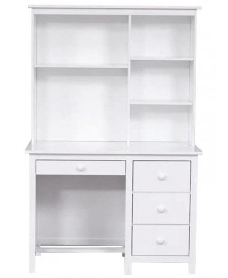 Kado Desk & Hutch Arctic White