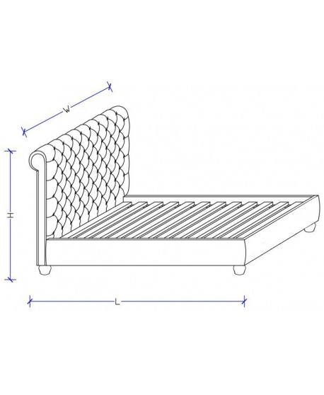 Peppa Velvet Upholstered Slat Bed Frame